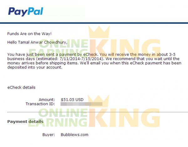 Minimum Payout on Bubblews