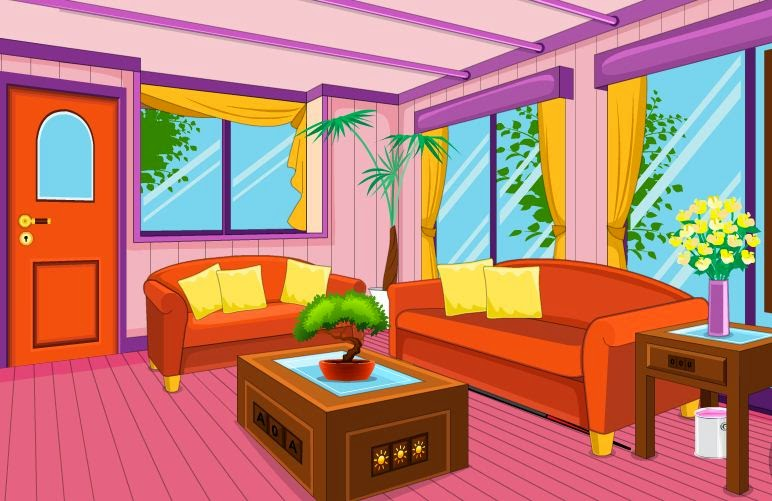 Enagames purple house escape 2 escape games daily new for Minimalist house escape 2