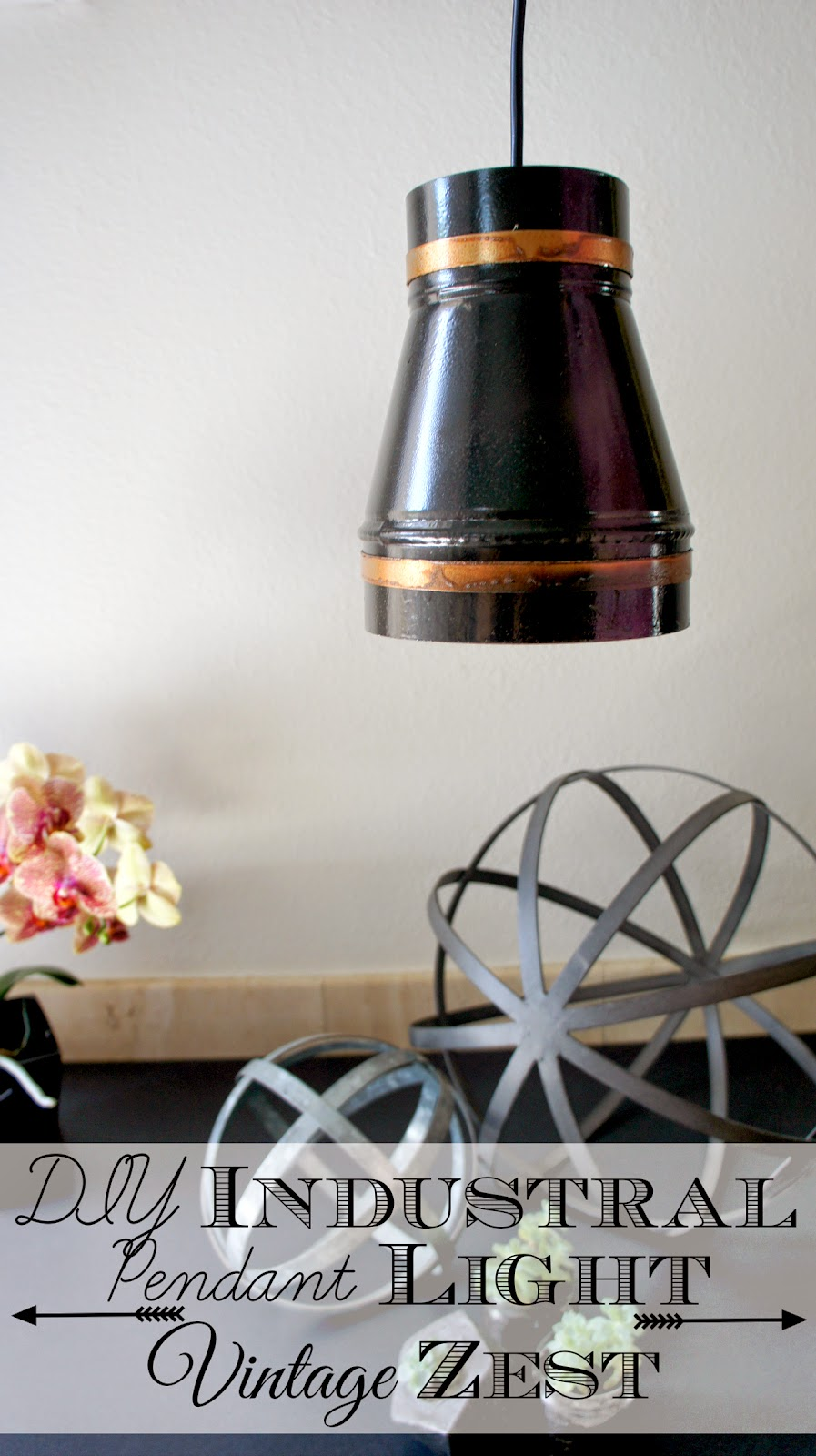 DIY Industrial Pendant Light with LED Power! on Diane's Vintage Zest! #LEDSavings #CollectiveBias #shop