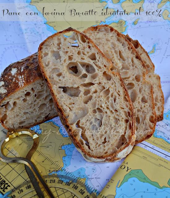 pane con farina buratto, licoli e un'idratazione del 100%!!!