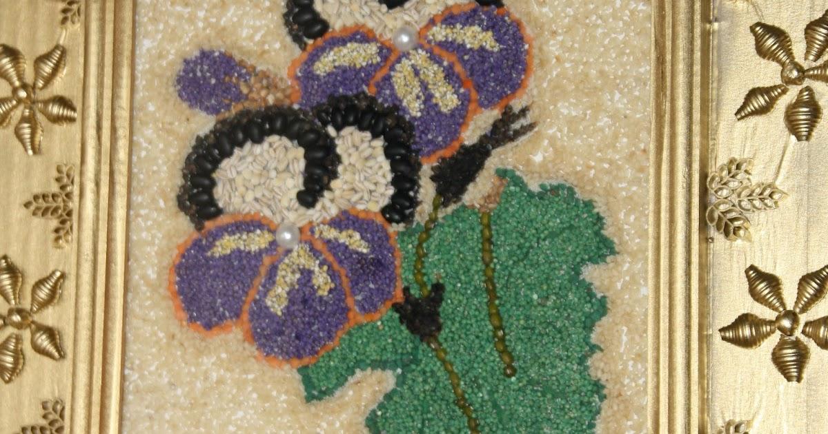 Картины из круп и семян своими руками фото 3