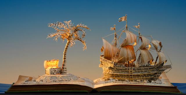 Impressionantes esculturas de papel ilustram a magia e o encanto dos livros