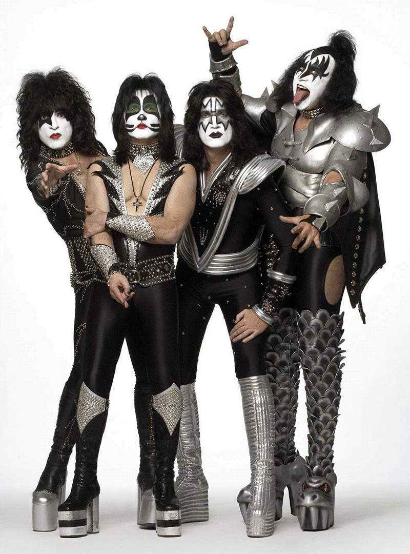 Above The Rock Band Kiss in