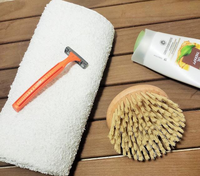 golenie na odżywkę do włosów