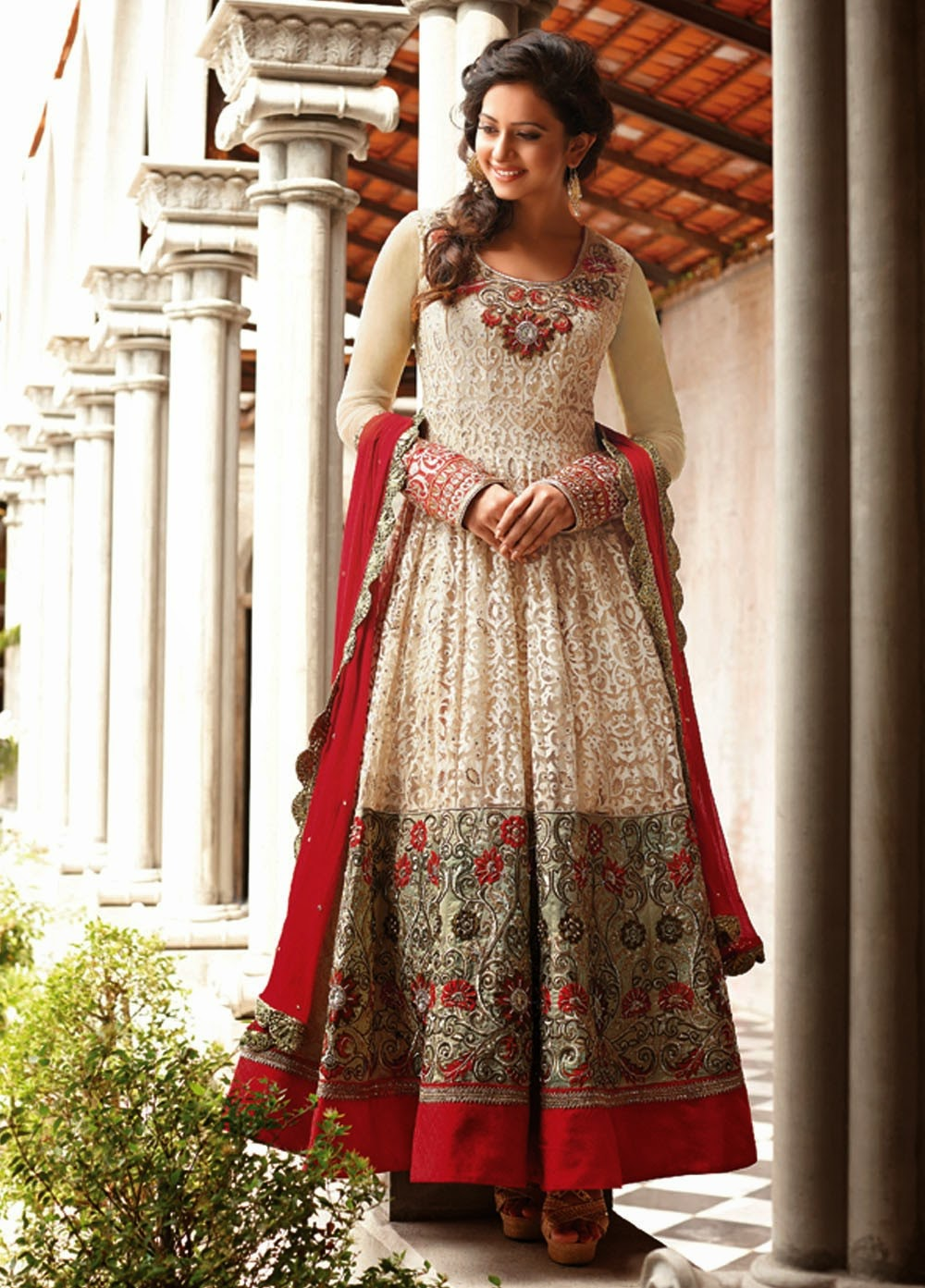Fashion style Anarkali embroidery suits collection for woman