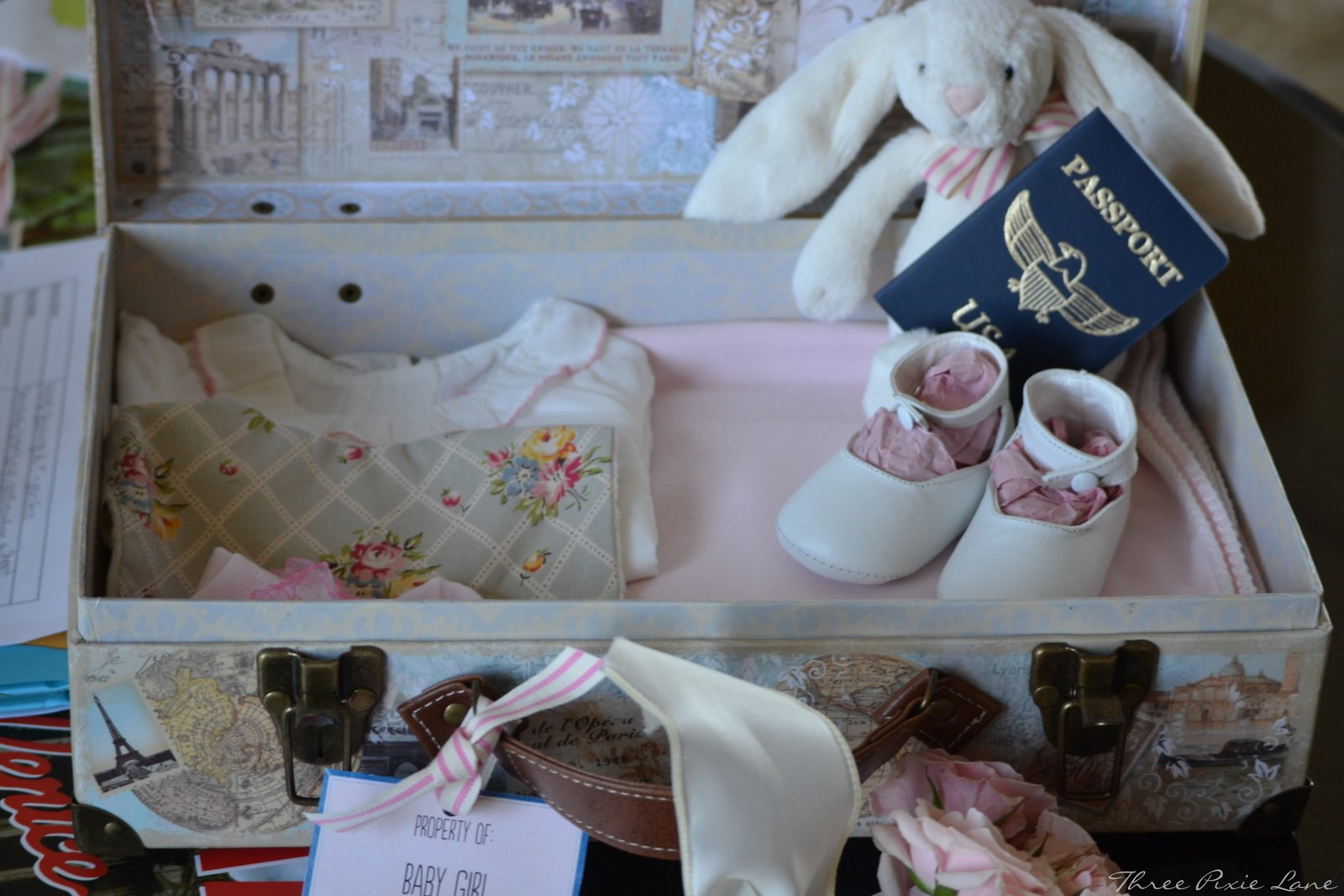 Baby Gift Ideas London : Three pixie lane a travel themed baby shower oh