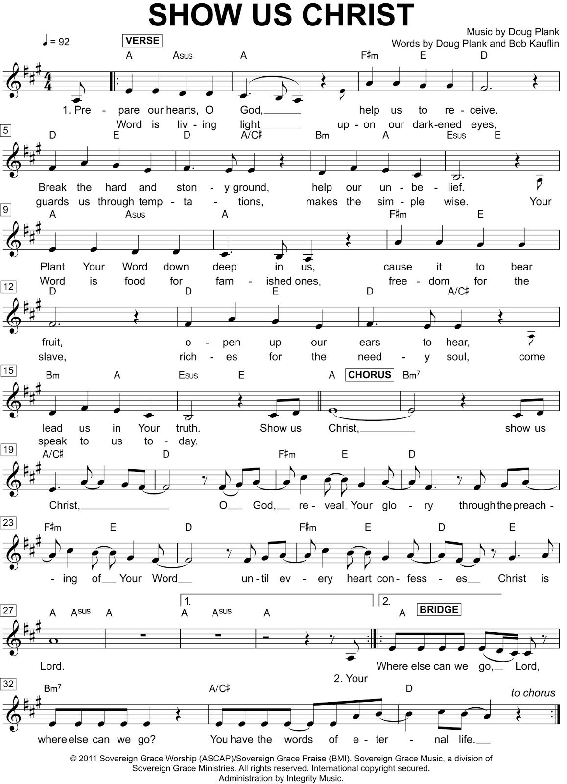 Enriched affections april 2013 otherwise the song is wonderful as is in addition to the lead sheet below you can download many other chord charts in various keys from sovereign graces hexwebz Choice Image