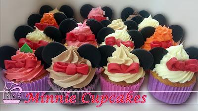 Cupcakes fondant Minnie Mouse Laia's Cupcakes Puerto Sagunto