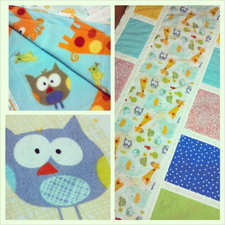 Easy Quilt Patterns For Baby : Free Baby Quilt Pattern: Easy Owl Crib Quilt Hyvaa Paivaa Textiles
