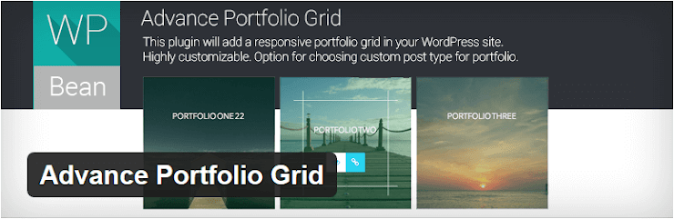Advance Portfolio Grid plugin