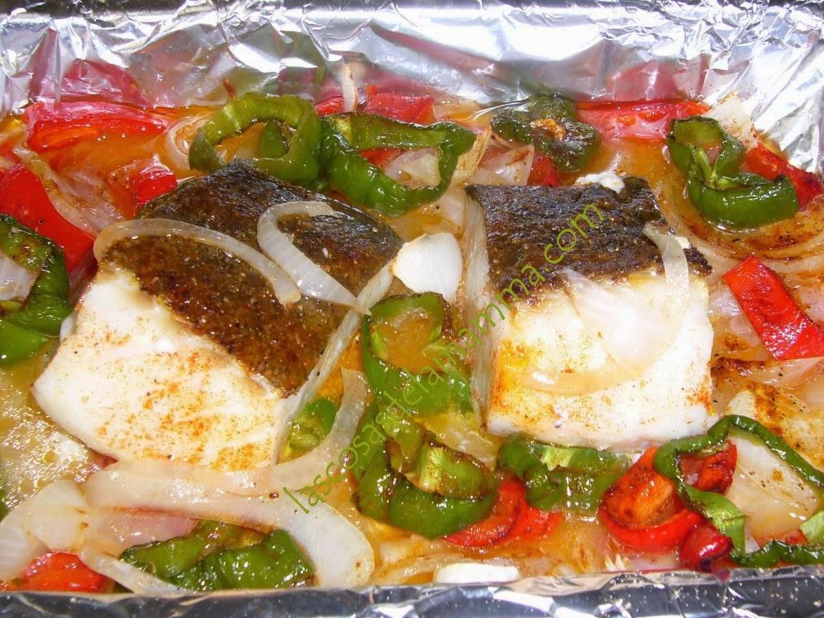 Las cosas de la mamma bacalao fresco al horno con verduras - Cocinar bacalao desalado ...
