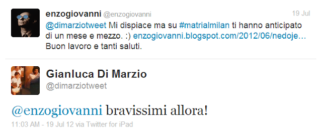 Di Marzio hvali Enza i njegov blog http://enzogiovanni.blogspot.com