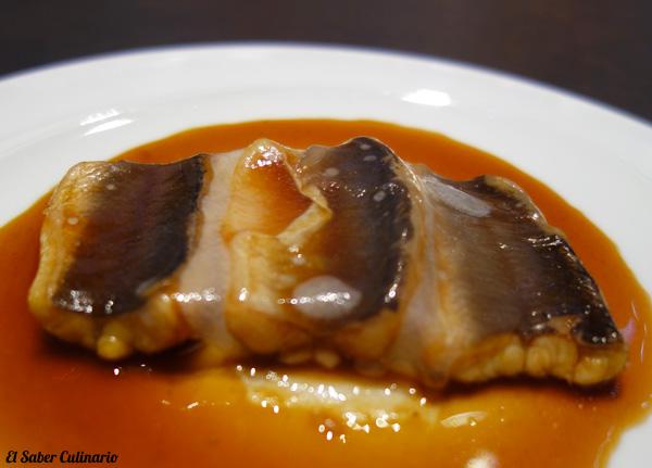 anguila con cerdo macarena de castro