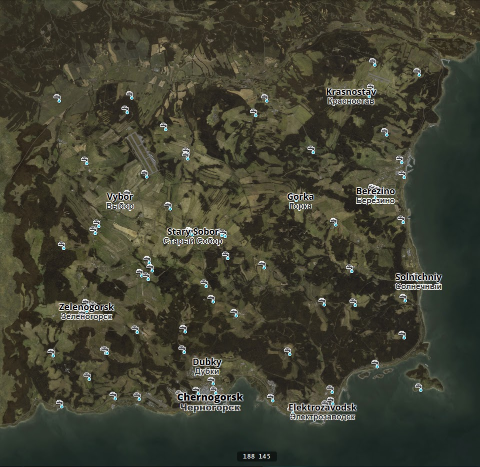 Dayz Standlone Map on