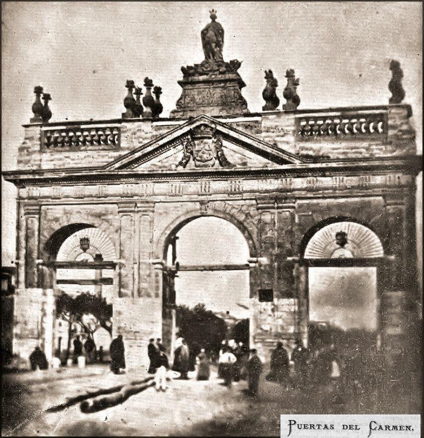 Arte en valladolid monumentos desaparecidos la puerta del carmen o de madrid - Puertas en valladolid ...