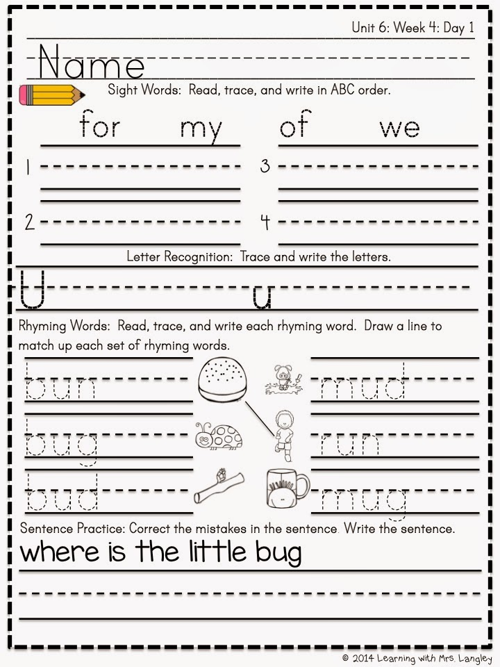 https://www.teacherspayteachers.com/Product/Kindergarten-Morning-Word-Work-Unit-6-1617155