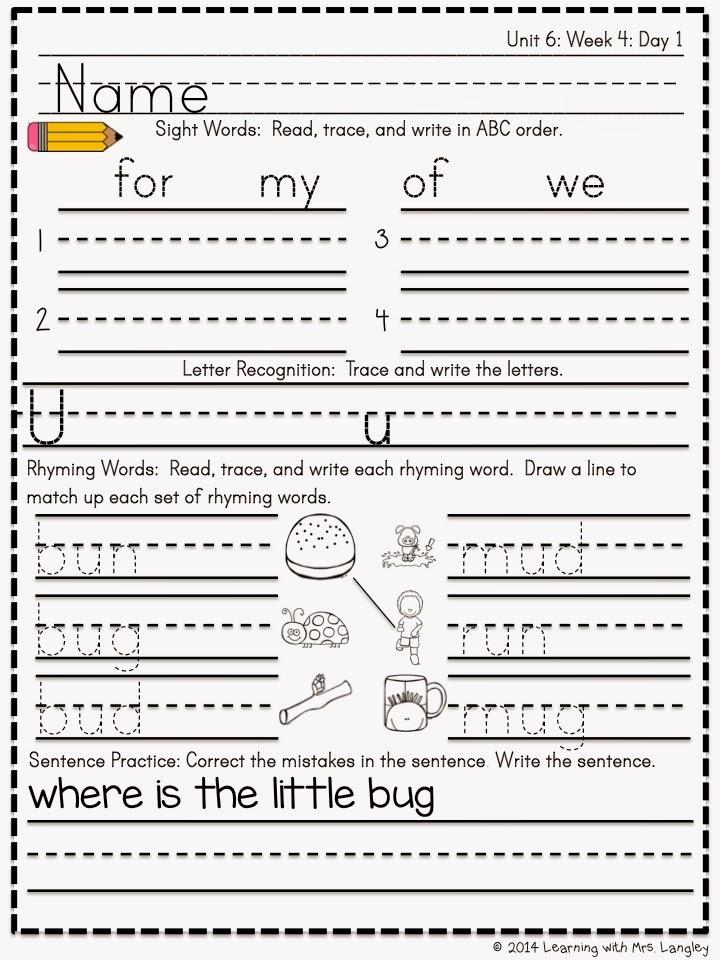 https://www.teacherspayteachers.com/Product/Kindergarten-Morning-Word-Work-Unit-6-1617155