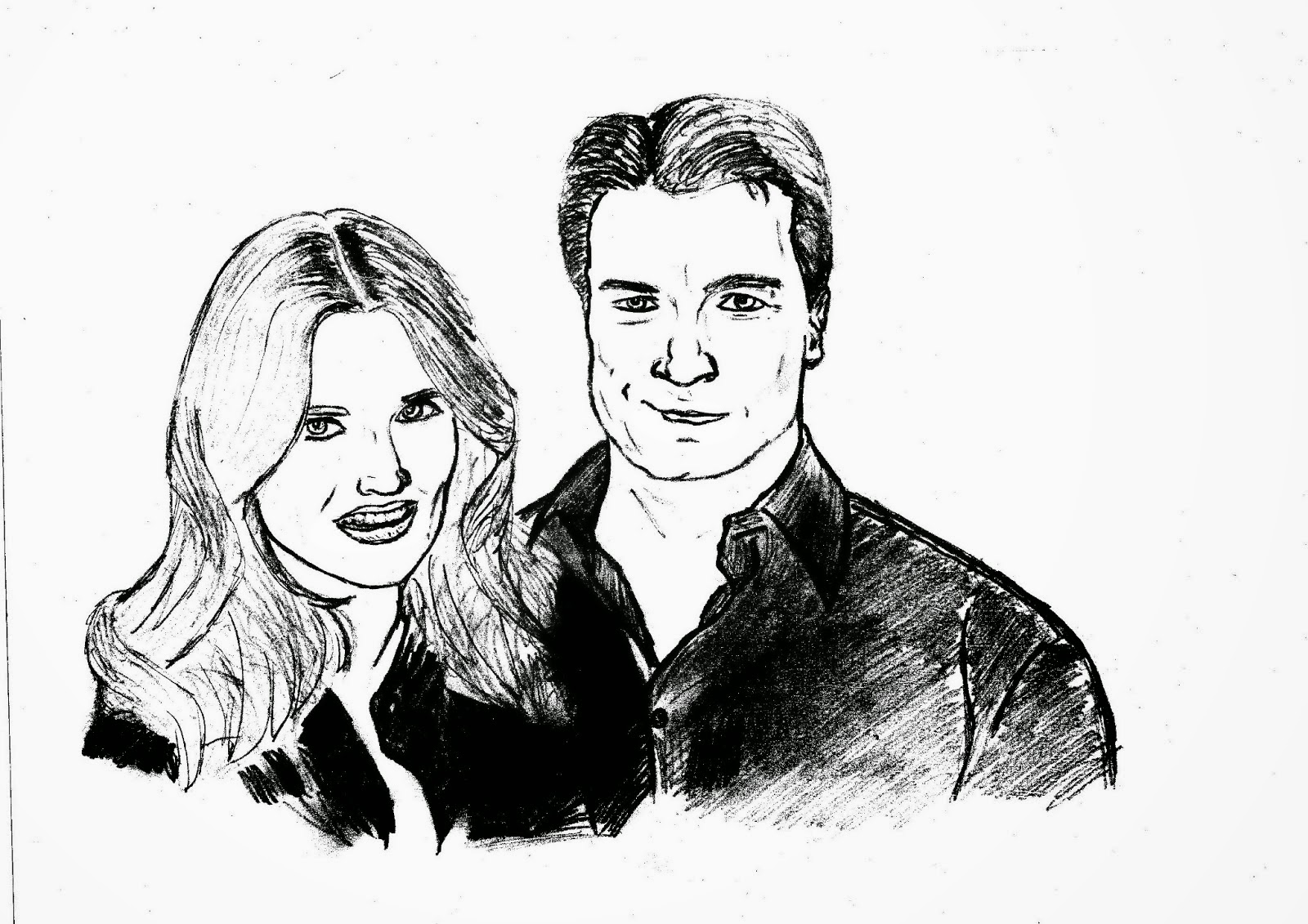 Castle And Beckett Coloring Pages