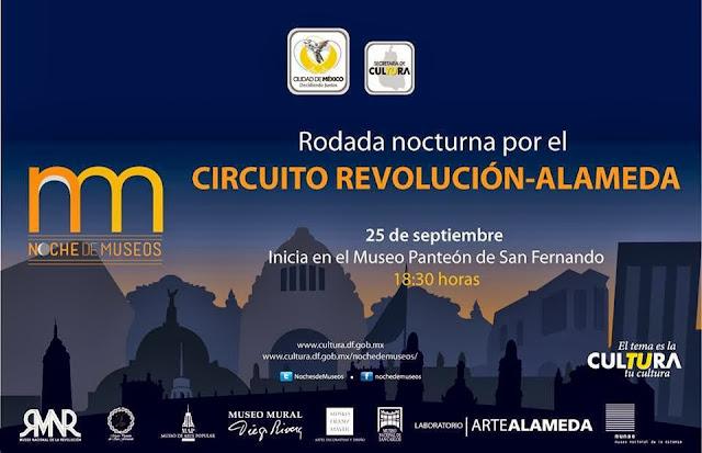 Noche de Museos: Rodada Cultural en el circuito Revolución - Alameda