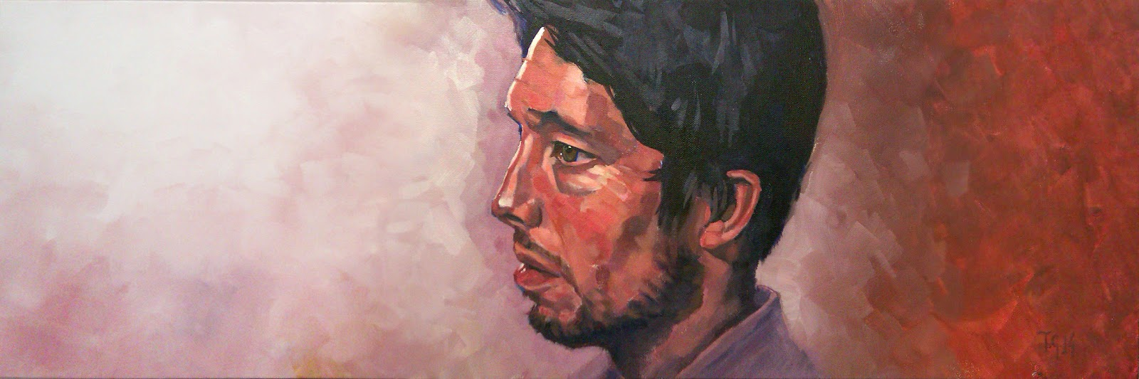 Painting no.18 'The Eternal Now. Aynsley Lister, by Anthony Greentree