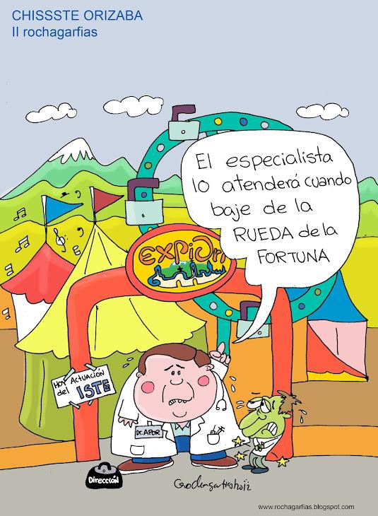 En la Clínica Hospital ISSSTE Orizaba, les dieron un dia festivo con motivo de la feria EXPORI.