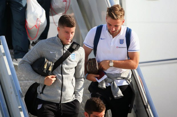 England arrives in Brazil