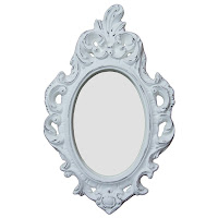 espelho provençal, espelho oval, espelho romântico, espelho para hall, espelho para lavabo