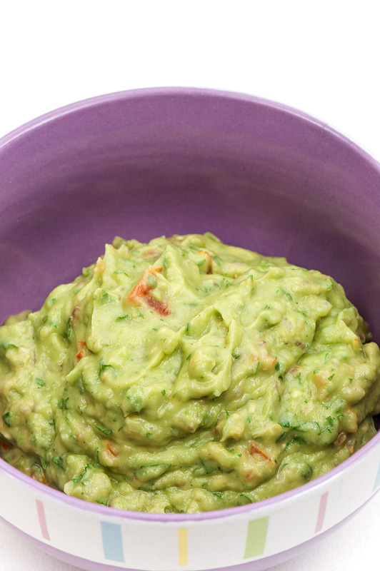 Guacamole homemade in bowl