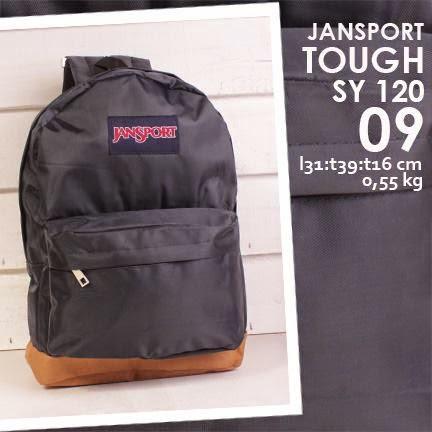 jual online tas ransel jansport kanvas polos warna hitam harga murah