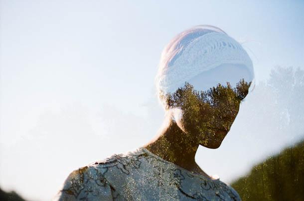 Retratos em dupla exposição - Fotografia de Jon Duenas