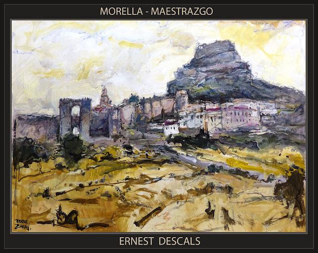 MORELLA-PINTURA-MAESTRAZGO-CASTELLON-MAESTRAT-CUADROS-PAISAJES-PANORAMICAS-PINTOR-ERNEST DESCALS-