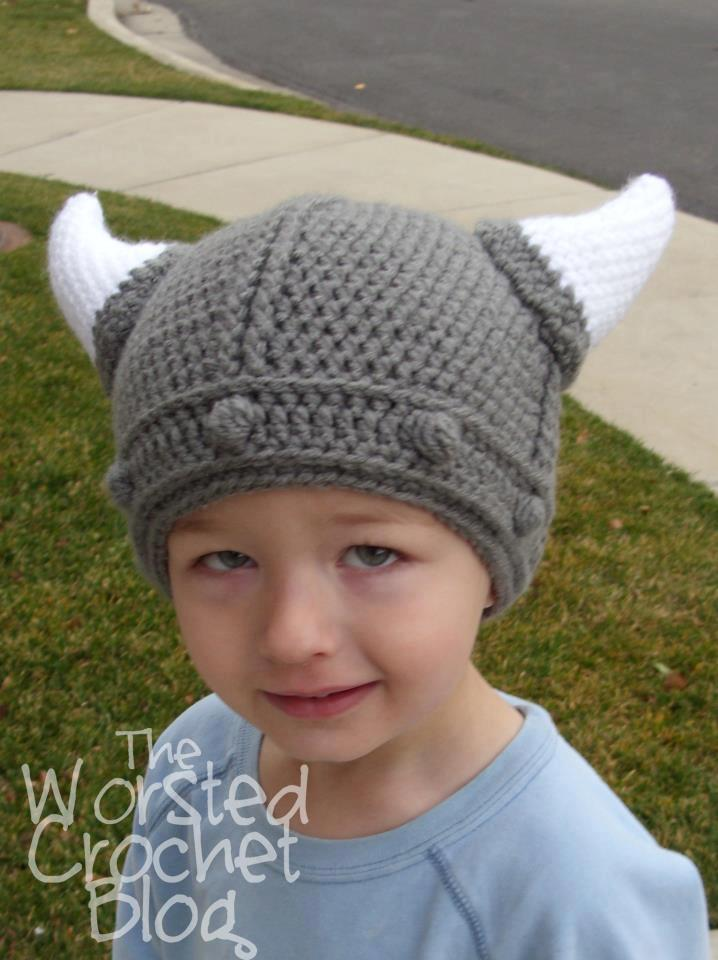 Free Crochet Patterns For Viking Hat : The Worsted Crochet Blog: Viking Hat Give-Away!