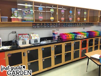 First Grade Garden Classroom Decor Products Chalkboard Brights