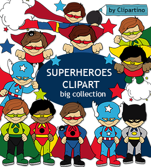Superheroes by Clipartino.com