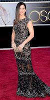 Сандра Бълок на Оскари 2013 в черна дантела с камъчета