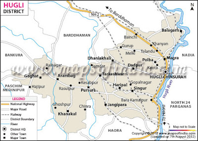 Hooghly District Map