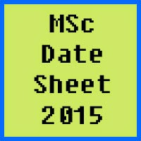 MSc Date Sheet 2016 Part 1 and 2 Punjab University PU Lahore