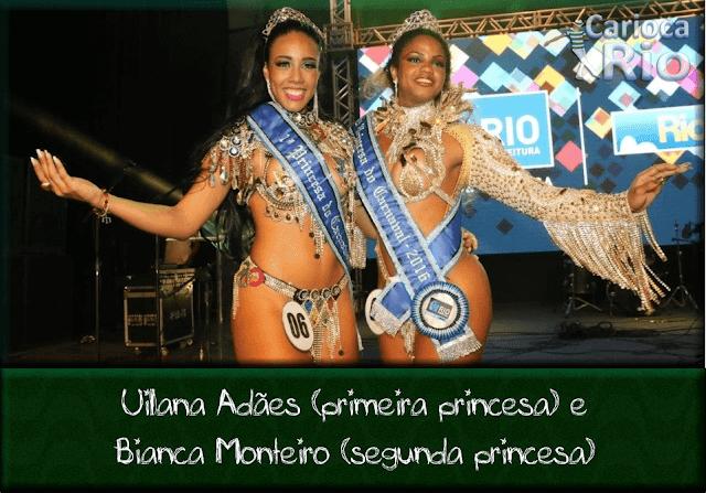 Uilana Adães (primeira princesa) e Bianca Monteiro (segunda princesa)