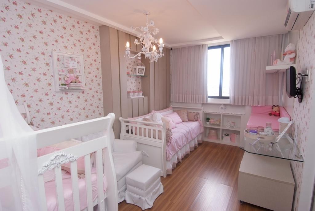 meu doce lar Decoração de quarto para bebê ~ Quarto Rosa Com Papel De Parede