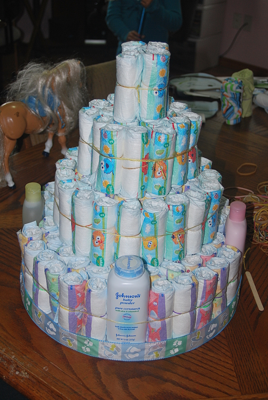 Unique Baby Gift Ideas To Make : Being frugal and making it work how to make a diaper cake