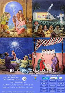 Cartel Belén Viviente en Corrales (Huelva) 2012