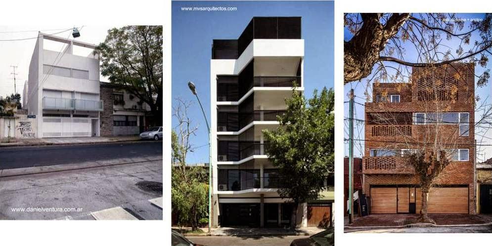 Edificios residenciales contemporáneos de baja altura en Buenos Aires