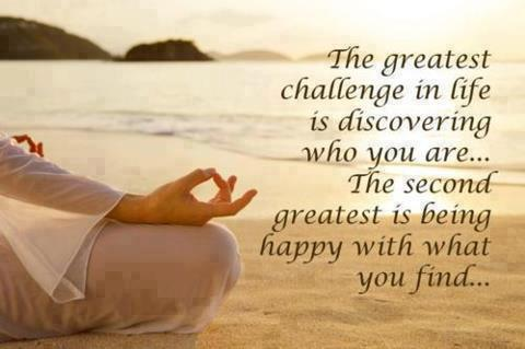 The greatest challenge in life is discovering who you are... The second greatest is being happy with what you find...