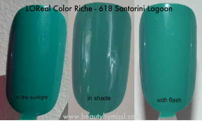 L'Oreal Color Riche - Santorini Lagoon swatches