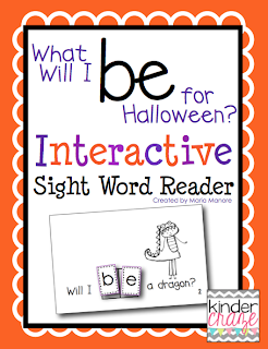 What Will I BE for Halloween? Interactive Sight Word Reader