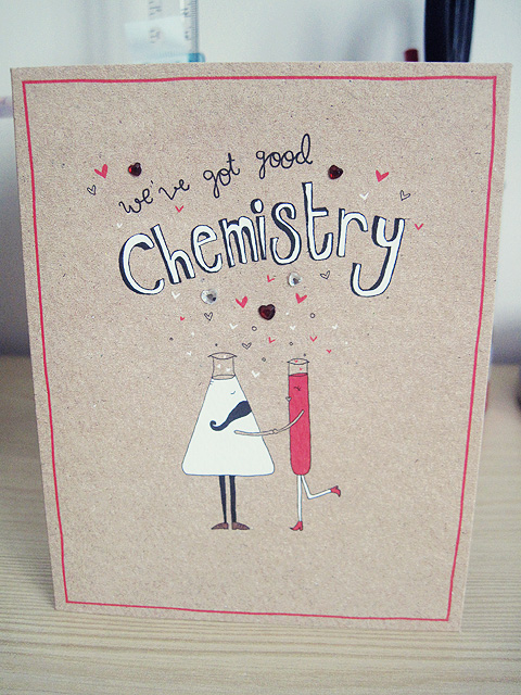 Paper Lovestory a lifestyle blog from a university student about – Chemistry Valentines Day Card