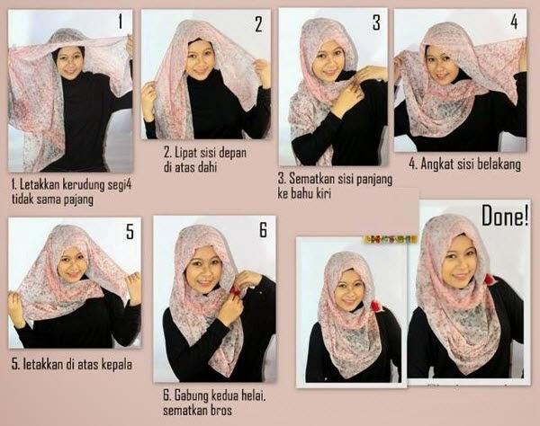 Tutorial Hijab Wajah Bulat