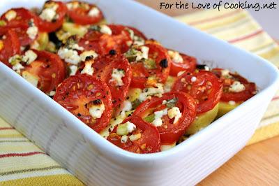 Tomato, Squash, and Feta Gratin