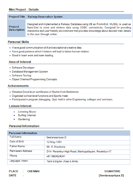 download information technology resume format - Information Technology Resume Template