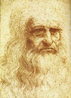 auto, retrato, leonardo, da vinci, obra, pintor, italiano